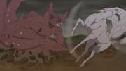 Gyūki golpeando a Kokuō