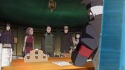 Kakashi com o Time de Resgate de Hanabi