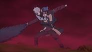 Mitsuki lutando contra Shizuma (Anime)