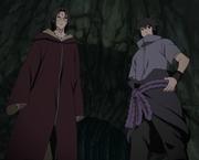 Sasuke s'associe avec Itachi pour vaincre Kabuto