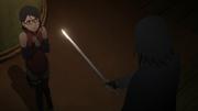 Sasuke threatens Sarada