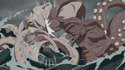 B lucha con el Calamar Gigante