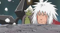 Fukasaku invoca uma Fūma Shuriken