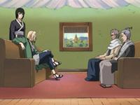 Homura and Koharu meet with Tsunade