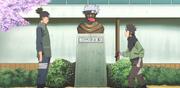 Iruka le informa a Konohamaru que no hará un nuevo vídeo