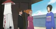 Shizune le informa a Kakashi que los Kages llegaron