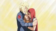 El amor de Minato por su hijo y esposa