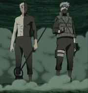 Kakashi y Obito luchando juntos