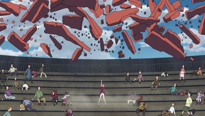 Sakura protege os aldeões