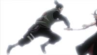 Shikamaru corta Hidan