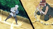 Formação das Cordas de Luz (Mitsuki e Iwabee)