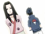 Haku se encuentra con Sasuke