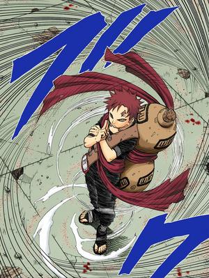 Jutsu de Cuerpo Parpadeante Manga