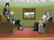 Koharu y Homura discuten con Tsunade