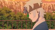 Mitsuki reflexionando sobre la voluntad
