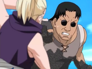 Shino impede o ataque de Yoroi