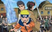 Tsukado junto con Naruto y Katazu enfrentando a la Pandilla Kanabun