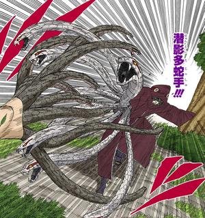 Manos de Muchas Serpientes Ocultas en las Sombras Manga