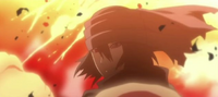 Sasuke destruye el Meteoro