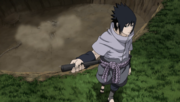 Sasuke leaves graveyard
