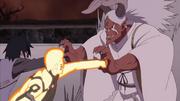 Sasuke y Naruto contra Momoshiki transformado