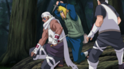 Minato et B s'affrontant
