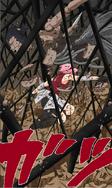 Sakura destrói a marionete do Terceiro Kazekage (Mangá Colorido)