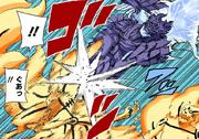 Sasuke ataca pelas costas (Colorido)