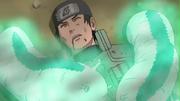 Katsuyu curando a los aldeanos después de la Invasión de Pain