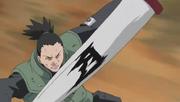 Pergamino de barrera utilizado por Shikamaru
