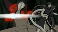 Obito and Madara get seperated from the Ten-Tails