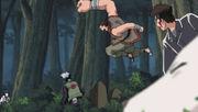 Gozu ataca a Kakashi