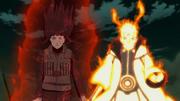 Hinata junto con Naruto en Modo Control de Chakra