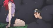Zosui herido frente a Karin
