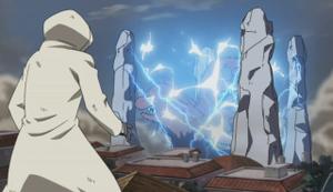 Elemento Rayo Prisión de Cuatro Pilares Anime