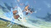 Jirōbō ataca Chōji durante a Guerra