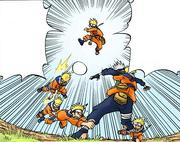 Naruto capturando Kakashi (Mangá Colorido)