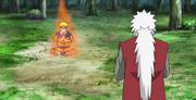 Naruto entrenando para controlar el Chakra del Nueve Colas