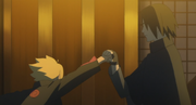 Boruto ataca Sasuke