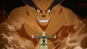 Kurama es liberado por Naruto