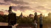 Kurenai, Mirai e a babá encontram SHikamaru no cemitério