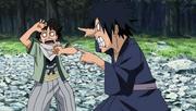 Madara en su niñez enfadado con Hashirama