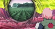 Obito usando el Kamui con ambos ojos para viajar a más dimensiones