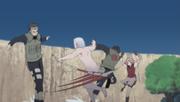 Yamato et Sakura vs Hidan et Hayate