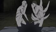 Zetsu Blanco y Tobi hablando para molestar a Obito