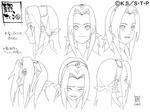 Diseño de Sakura Expresiones I por Pierrot