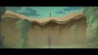 Fluxo da Cachoeira de Areia Movediça (Gaara - Game)