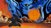 Fuego Rugiente de la Llama de Gato Anime