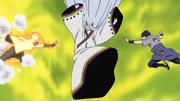 Naruto e Sasuke tentam atacar Kaguya