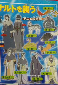 Personajes enmascarados (originales de Road to Ninja Naruto the Movie)